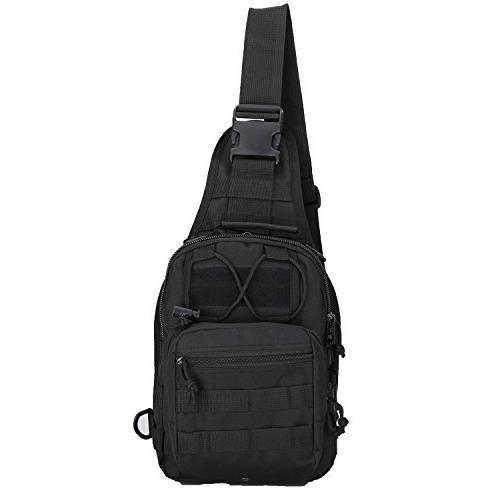 tactical sling bag chest shoulder