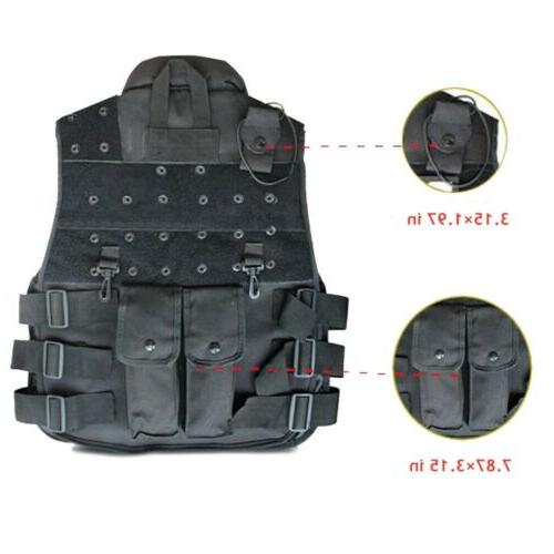 Tactical Vest Military Airsoft Hunting Training Gear Vest