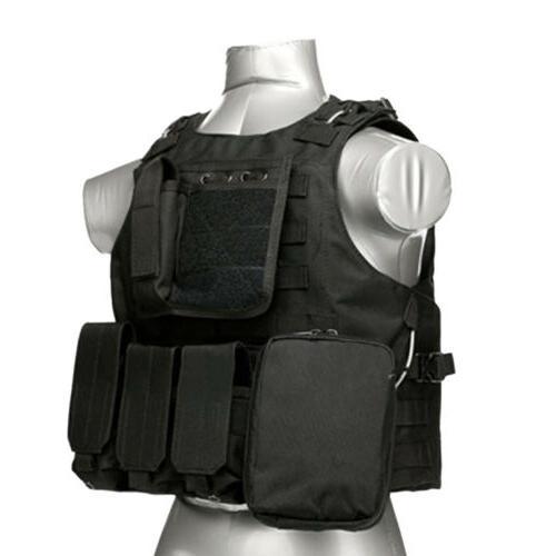 Tactical Molle Combat Assault Carrier Vest Gear