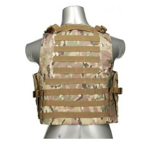 Tactical Molle Combat Plate Carrier Vest
