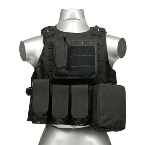 Tactical Molle Combat Assault Plate Carrier Gear US