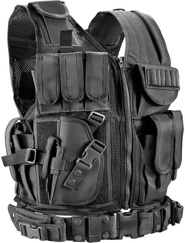 Tactical Vest Military Carrier Molle Police Airsoft Combat