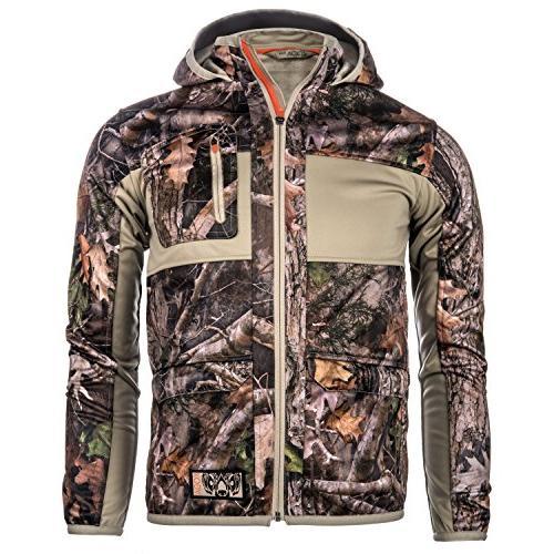 timber softshell camo hunting jacket