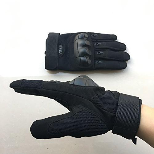 JIUSY Screen Military Rubber Tactical Gloves Paintball Army Gear Sports Cycling Shooting Hunting Black