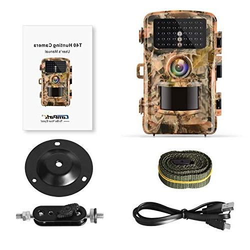 Campark 1080P Hunting Cam 14MP Color LCD Wildlife Game Scouting Surveillance with 75ft/23m Night Vision IR IP56 Waterproof