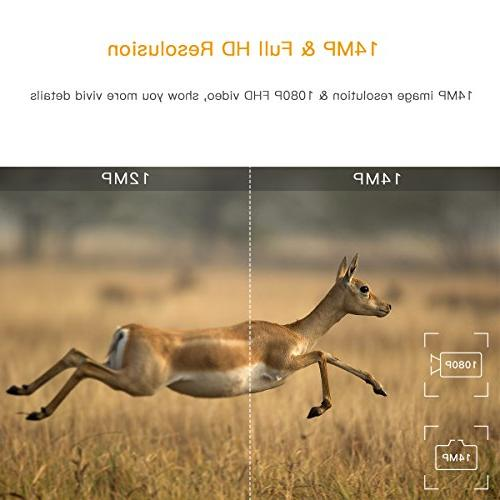 """TOGUARD Camera 1080P Game Night Motion Activated Waterproof Wildlife 120° Detection Trigger 2.4"""" IR"""
