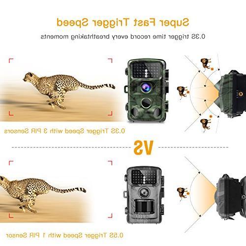 TOGUARD 14MP 1080P Night Vision Waterproof 120° Detection Trigger Speed IR