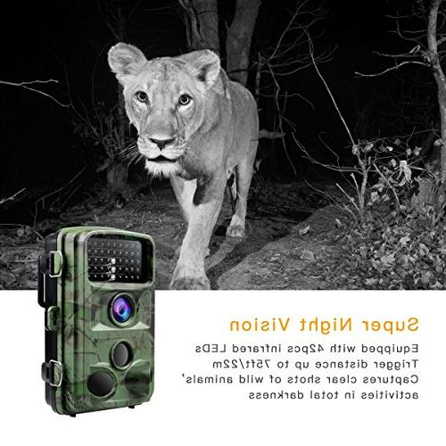 TOGUARD 1080P Night Vision Waterproof 120° Trigger Speed IR