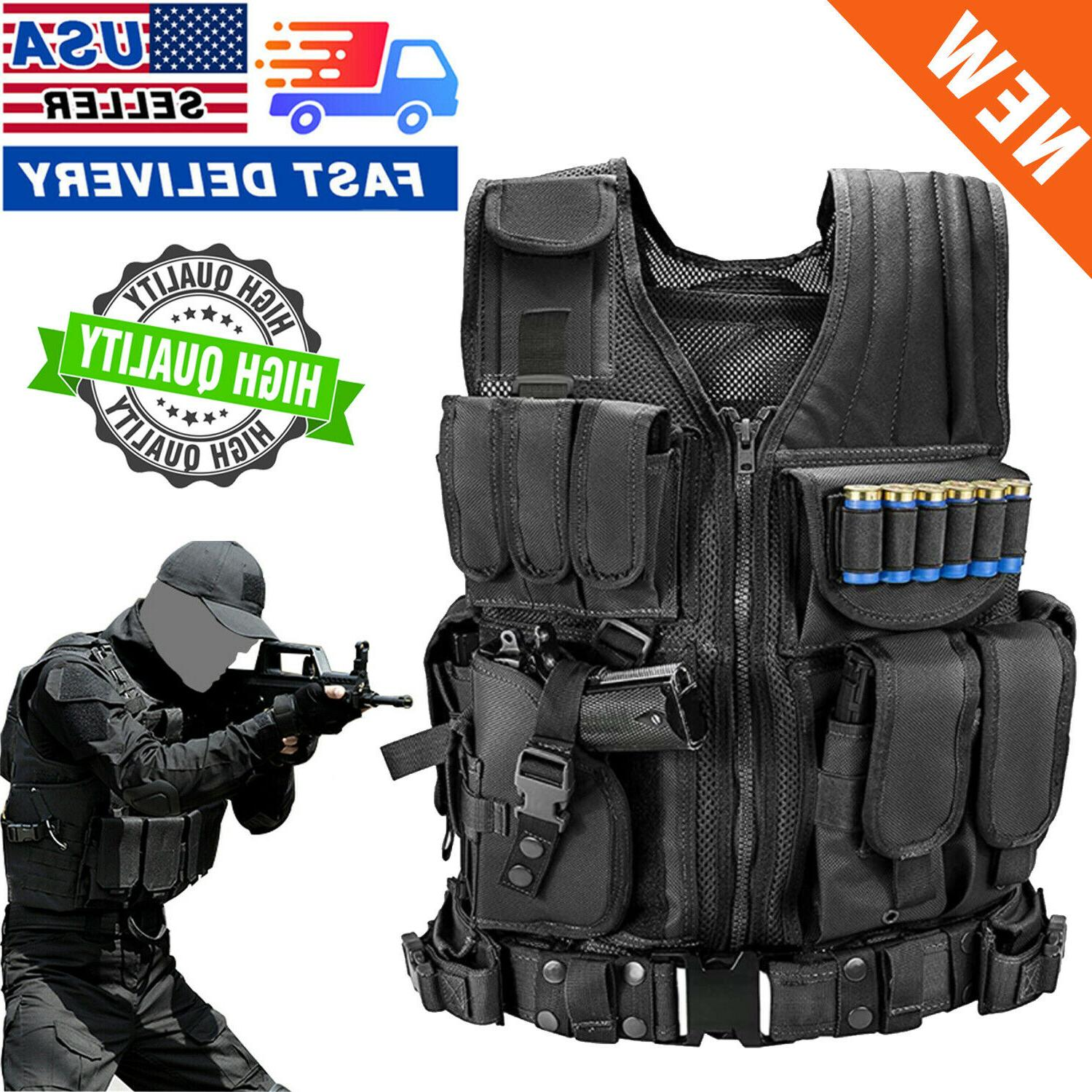 us military vest tactical holster police molle