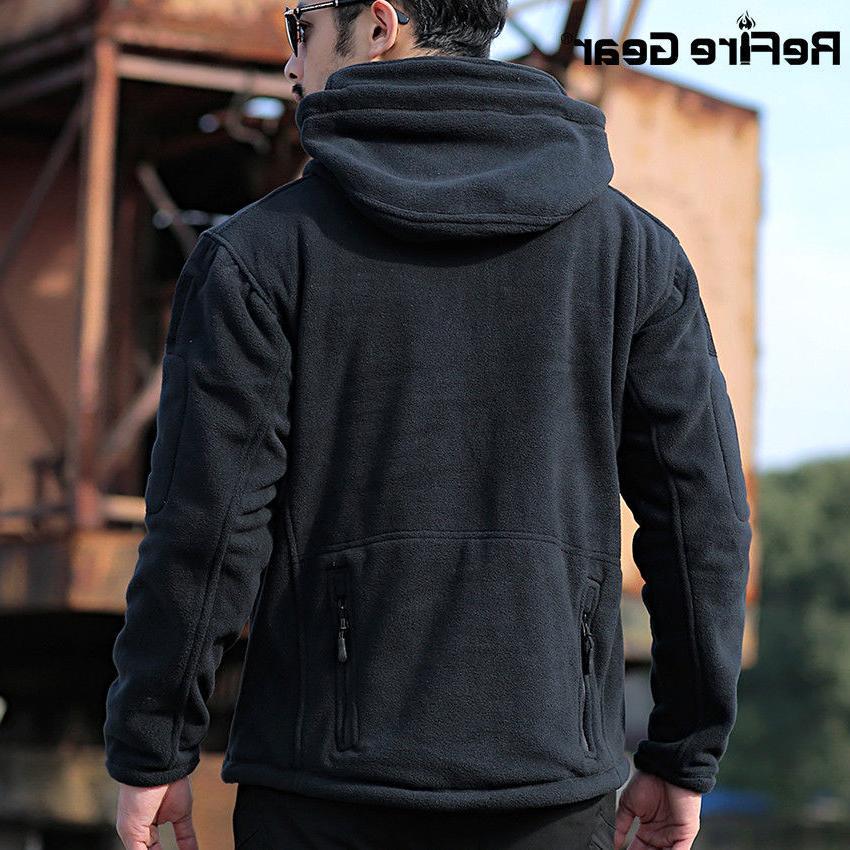 ReFire Thick Tactical Military Fleece Hoodie Coat