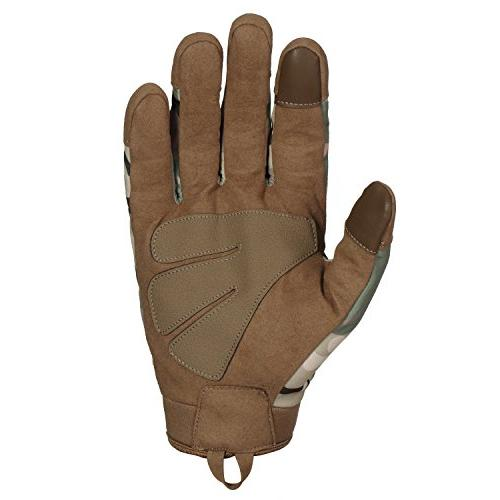 JIUSY Windproof Warmer Touch Screen Military Hard Full Gloves for Cycling Motorcycle Riding Work Camouflage Medium