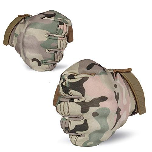 Touch Screen Military Hard Tactical Full Cycling Riding Camouflage Size Medium