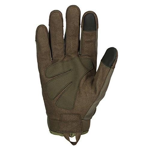JIUSY Touch Rubber Hard Tactical Gloves Full Gloves Cycling Motorcycle Hunting Riding Outdoor
