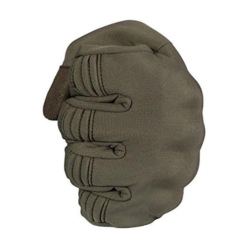JIUSY Windproof Warmer Touch Military Rubber Hard Full Cycling Motorcycle Snowboard Riding Work Outdoor Green
