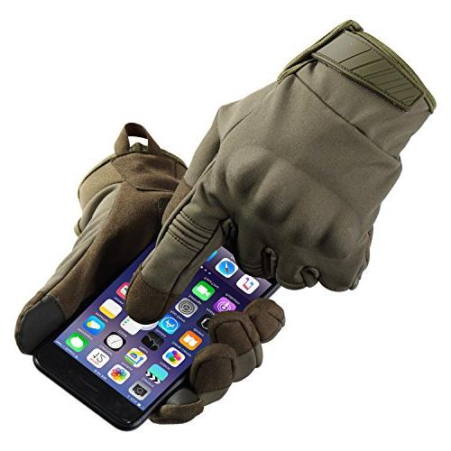 Touch Military Hard Tactical Full Finger Cycling Snowboard Riding Bicycle Work Outdoor Green Size