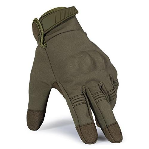 JIUSY Warmer Touch Military Rubber Hard Full Green