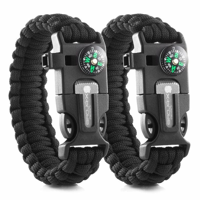 x plore gear emergency paracord bracelets set