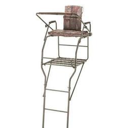 Guide Gear Jumbo Ladder Tree Stand 18 ft Padded Armrests Fli