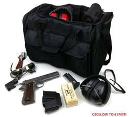 Large Deluxe Shooters Tactical Range Bag in Black Concealed