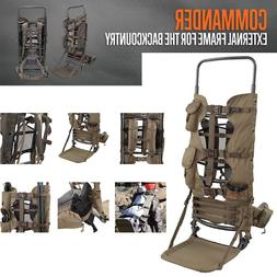 Large Hunting Backpack Frame Freight Best Hiking Camo Gear P