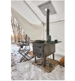 large outdoor wood stove camping outdoor cooking
