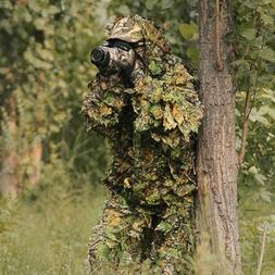 Leaf Camouflage Camo Wood Ghillie Suit Set 3D Jungle Forest
