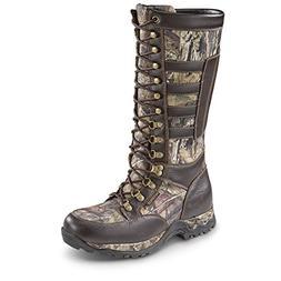Guide Gear Men's Leather Snake Boots, Waterproof, Side Zip,