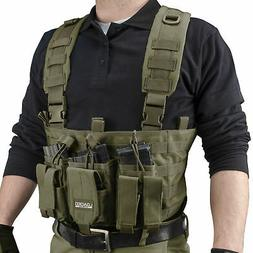 Barska Loaded Gear Tactical Chest Rig, Mag & Accessory Pouch