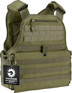 Barska Loaded Gear VX-500 Plate Carrier  Molle Vest OD Green