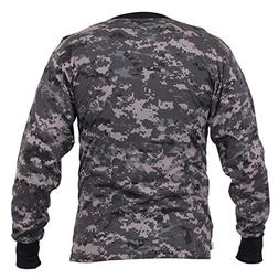 Rothco Long Sleeve Digital Camouflage T-Shirt, Subdued Urban