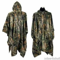 Rain Poncho, LOOGU Waterproof Camouflage Rain Coat Outdoor C