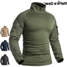 ReFire Gear Men's Military Tactical Combat Shirt Camouflage