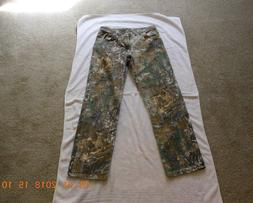 Men's Wrangler Pro Gear Realtree Hunting Jeans Size 32 x 32