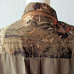 Mens 2XLT 2XL Shirt Turkey Graphics Tall Legendary Whitetail