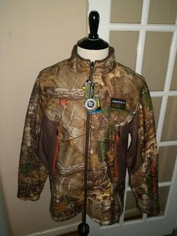 Mens NWT UA Hunt Under Amour Storm Realtree Camo Jacket Larg
