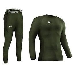 Men's Thermal Underwear Set, Sport Long Johns Base Layer f