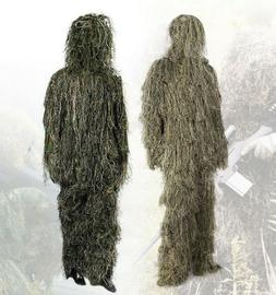 MILITARY GHILLIE SUITS WOODLAND DESERT CAMO CLOTHING TACTICA
