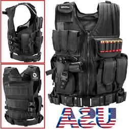 Tactical Military Police Vest SWAT Molle Assault Combat Gear