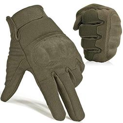 JIUSY Military Shooting Hard Knuckle Tactical Gloves for Air