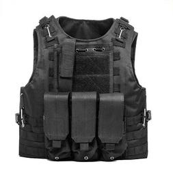 Military Vest Tactical Plate Carrier Holster Police Molle As