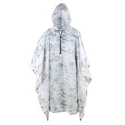 jayslim Multifunction Emergency Camouflage Rain Poncho - Lig