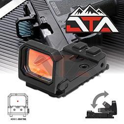 NcSTAR Flip Red Dot Pistol Sight 3 MOA Glock MOS RMR Slide M