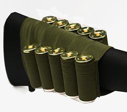 OD Green 10 Round Shotgun Ammo Shot Shell Cartridge Hunting