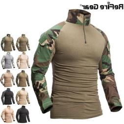 ReFire Gear Outdoor Army Tactical T Shirt Men Hunting Camo M