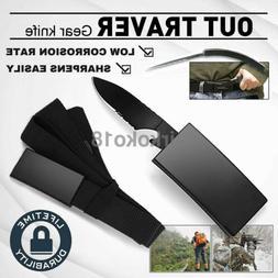 Outdoor Tactical Knife Belt Blade Self Urgency Camping Survi
