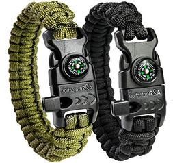 A2S Paracord Bracelet K2-Peak - Survival Gear Kit with Embed