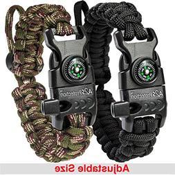 A2S Paracord Bracelet K2-Peak - Survival Gear Kit with Embed