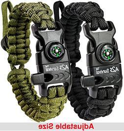 A2S Protection Paracord Bracelet K2-Peak – Survival Gear K