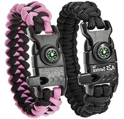 A2S Protection Paracord Bracelet K2-Peak – Survival Gear K