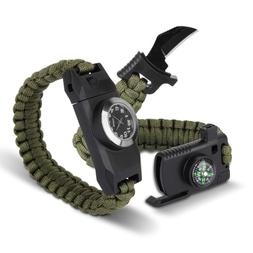 Meetrip Paracord Knife Survival Bracelet,Hiking Gear Travell